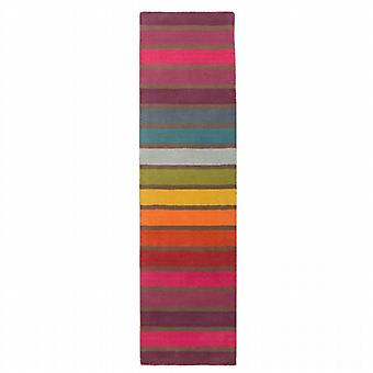 Flair Illusion Candy Multi Coloured Striped Runner 60x230cm
