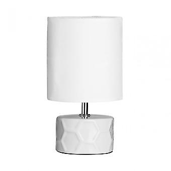 Premier hem Honeycomb bordslampa, keramik, vit