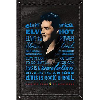 Poster - Studio B - 24x36 Elvis is Rock' n' Roll Wall Art CJ1540B