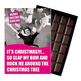 Funny Christmas Gift For Women Wife Or Girlfriend boxed Chocolate Greeting Card Present CDL162