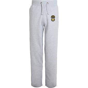 Royal Welch Fusiliers - Licensed British Army Embroidered Open Hem Sweatpants / Jogging Bottoms