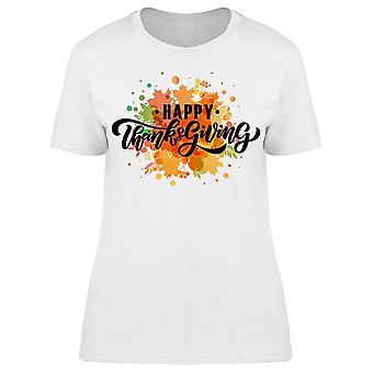 Happy Thanksgiving Graphic Tee Women's -Image by Shutterstock