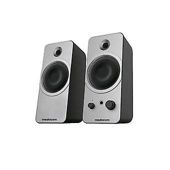 Mediacom mediasound dt212 pc speakers 30w silver
