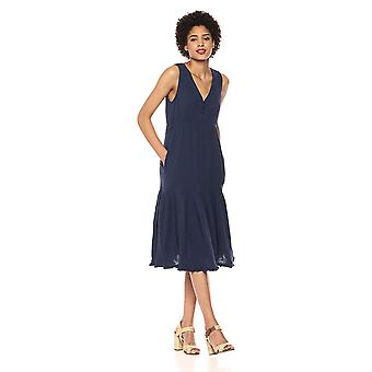 Lucky Brand Women's Cotton Gauze Dress, American, American Navy, Size Small