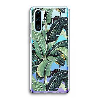 Huawei p30 pro caso transparente (Soft)-folhas de banana