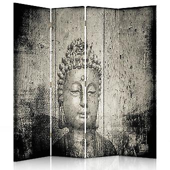 Room Divider, 4 Panels, Double-Sided, Canvas, Buddha Image