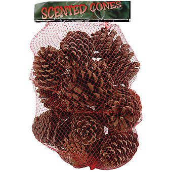 Cinnamon Scented Pine Cones Large Mix 12 14 Pkg Natural 88 285
