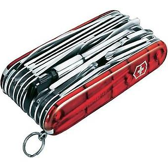 Swiss army knife No. of functions 50 Victorinox Swiss Champ XLT 1.6795.XLT Red (transparent)
