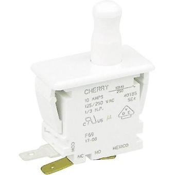 Pushbutton 250 Vac 10 A 1 x On/(On) Cherry Switches F69-30A momentary 1 pc(s)