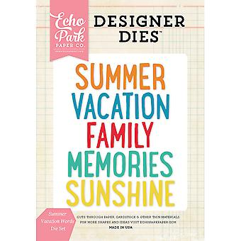 Echo Park Dies-Summer Vacation Words EPDIE420
