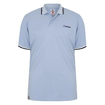 LAMBRETTA bleu ciel chemise Polo à manches courtes