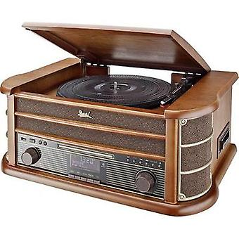 Audio system Dual NR 50 DAB AUX, CD, Tape, USB, Turntable, 2 x 5 W Wood