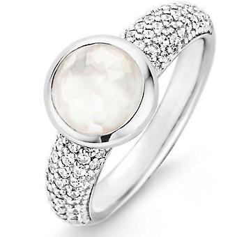 Ring Ti Sento 12079MW - Pearl ring Zirconium woman