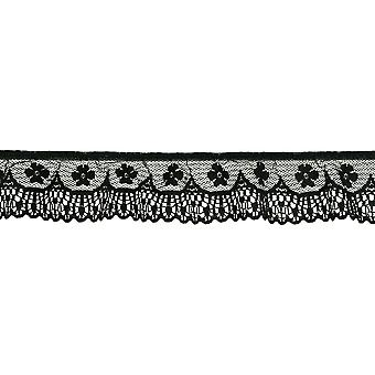 Ruffled Orchid Scallop Lace Trim 1-3/4