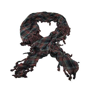 Brown Plaid Triangular Reversible Neck Scarf Tartan