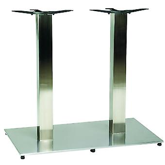 Zuton Twin Rectangular Dining Stainless Steel Table Base