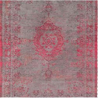 Contemporary Distressed Pink Dining Room Square Rug - Louis De Poortere