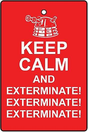 Daleks Keep Calm And Exterminate Car Air Freshener