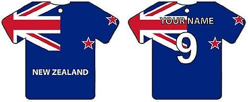 Personalised New Zealand Flag Jersey Car Air Freshener