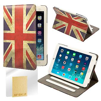 Design Book Leather Case Cover For Apple iPad Mini - Union Jack UK Flag