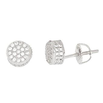 925 sterling silver MICRO PAVE earrings - DOME 6 mm