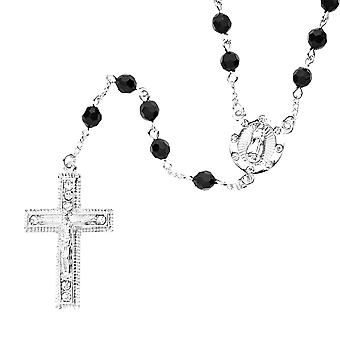 Iced out bling fashion chain - beads Rosary silver