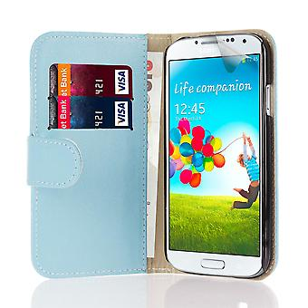 Book wallet case + stylus for Samsung Galaxy S4 Active i9295 - Light Blue