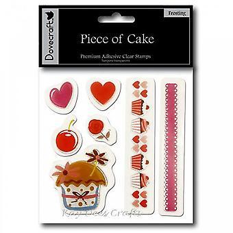 Dovecraft Piece Of Cake - klart frimærker - Frosting *