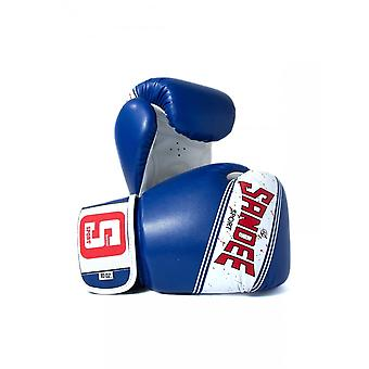 Sandee Sport 2 Tone PU Boxing Gloves - Blue White