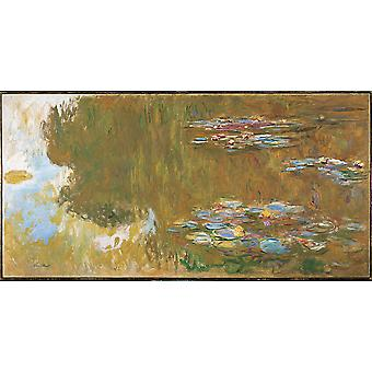 Claude Monet - The Water Lily Pond c. 1917 19 Poster Print Giclee