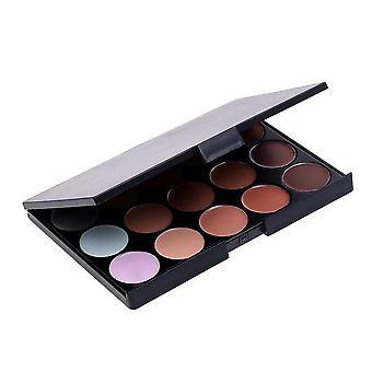 Boolavard profesional 15 color corrector camuflaje contorno ojos cara crema paleta de maquillaje con cosméticos Oval conforman