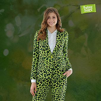 Jaggreen green Jaguar ladies suit Miss Green 2-piece costume deluxe EU SIZES