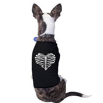 Herz Skelett lustige Halloween Kostüm T-Shirt für kleine Hunde Geschenke