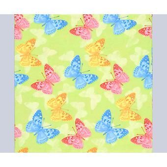 20 Green Butterflies 3-Ply Paper Decopatch Napkins | Decoupage Crafts