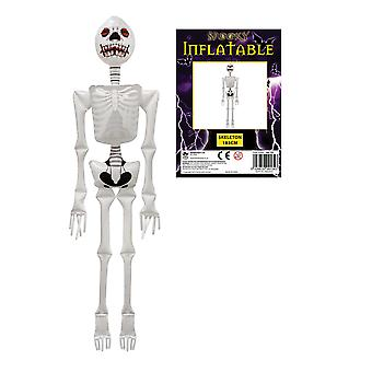 Halloween Inflatable/ Blow Up Spooky Horror Skeleton 183cm Party Accessory