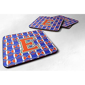 Zestaw 4 litera E piłki nożnej Green, Blue i Orange pianki podstawki zestaw 4