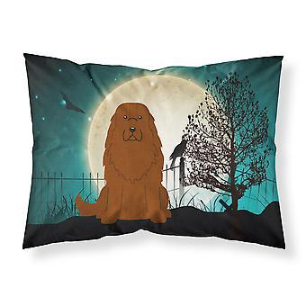 Halloween Scary Caucasian Shepherd Dog Fabric Standard Pillowcase