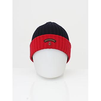 Paul and Shark Knitted Logo Beanie - Navy/Red