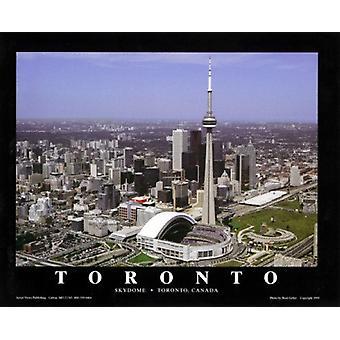 Toronto Canadá - azulejos en el Skydome cartel grabado por Brad Geller (28 x 22)