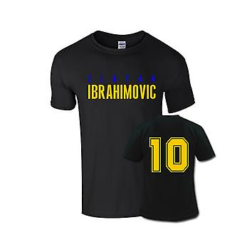 Zlatan Ibrahimovic Front Name T-shirt (black)