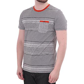 Ted Baker Mens Ted Baker Striped Ss Cn With Contrast Pocket