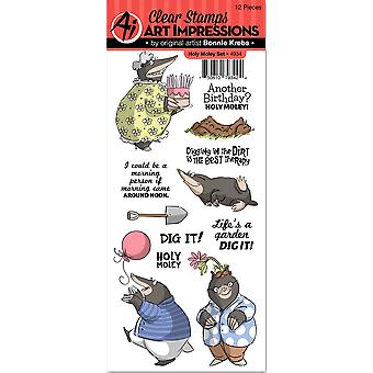 Art Impressions Clear Stamp Set-Holy Moley 4934