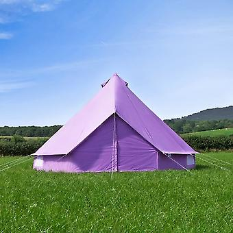 Boutique Camping 5m Pastel Lilac Bell Tent With Zipped In Ground Sheet