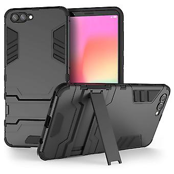 Huawei Honor View 10 Armour Combo Stand Case - Black