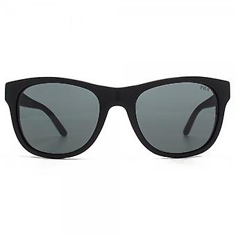 Polo Ralph Lauren Curved Square Sunglasses In Vintage Black