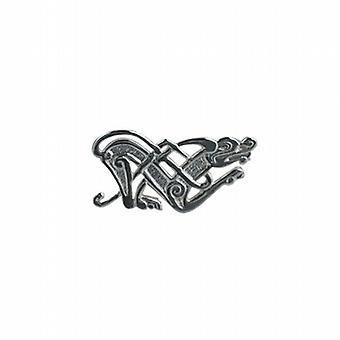 Silver 21x42mm Celtic animal Brooch