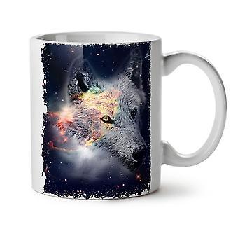Wolf In Space Face NEW White Tea Coffee Ceramic Mug 11 oz | Wellcoda