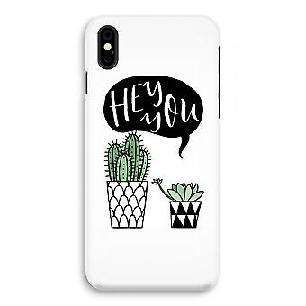 iPhone X Full Print Case (Glossy) - Hey you cactus
