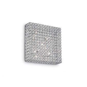 Ideal Lux Admiral Modern Square Crystal Light, 6 Bulbs