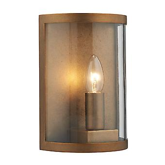 Dusk 1 Lighting Wall Lighting Natural Brass IP44
